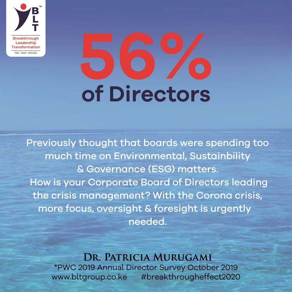 Is Your Board of Directors taking the proactive lead or are they paralysed by the Corona crisis?